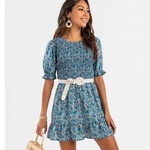Francesca's Trixxi floral mini dress